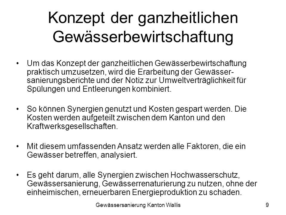 Gewässersanierung Kanton Wallis10 Ganzheitliche Gewässerbewirtschaftung Abb.