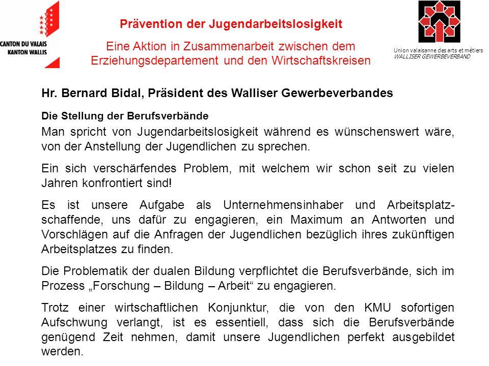 Union valaisanne des arts et métiers WALLISER GEWERBEVERBAND Hr.