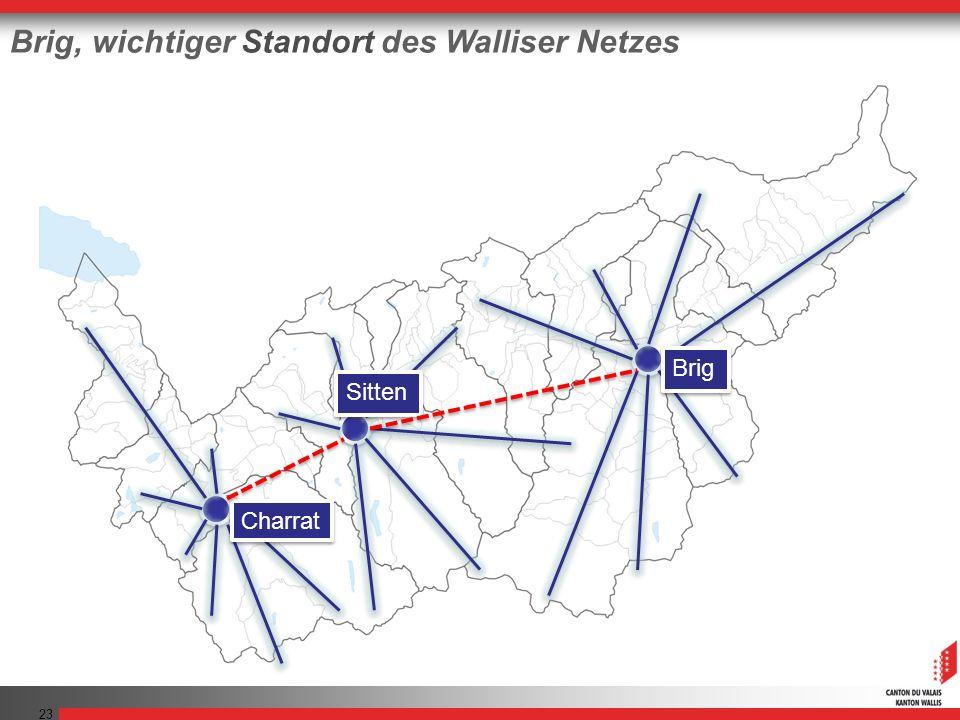 23 Brig, wichtiger Standort des Walliser Netzes Charrat Sitten Brig