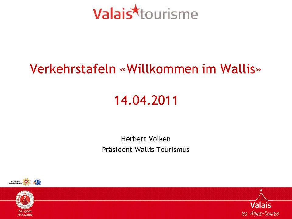 Ziele Dringende Ersetzung der bereits existierenden Verkehrstafeln Schaden durch die Klimakonditionen Visuell entsprechen sie der Identität der Marke Wallis nicht Ergänzung der existierenden Standorte damit die Präsenz aller Einfahrtmöglichkeiten ins Wallis (Hauptaxen) gesichert ist.