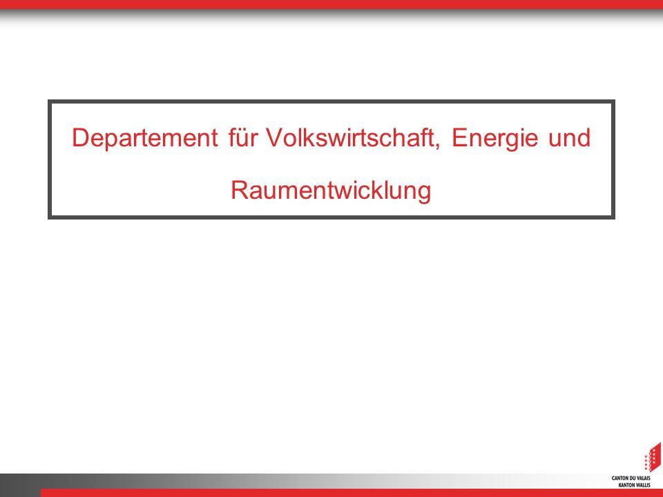 Departement für Volkswirtschaft, Energie und Raumentwicklung