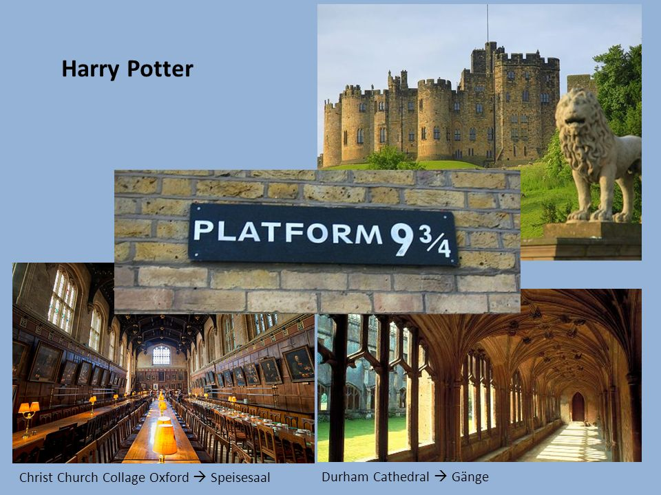 Harry Potter Alnwick Castle Hogwarts Durham Cathedral Gänge Christ Church Collage Oxford Speisesaal