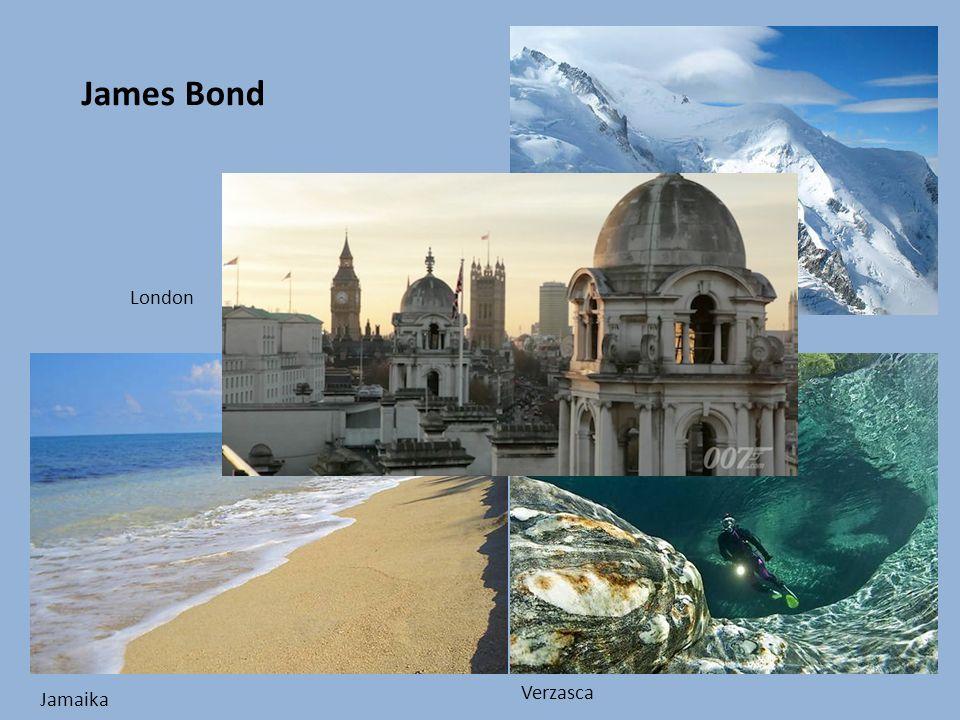 James Bond Verzasca Jamaika Mont Blanc London