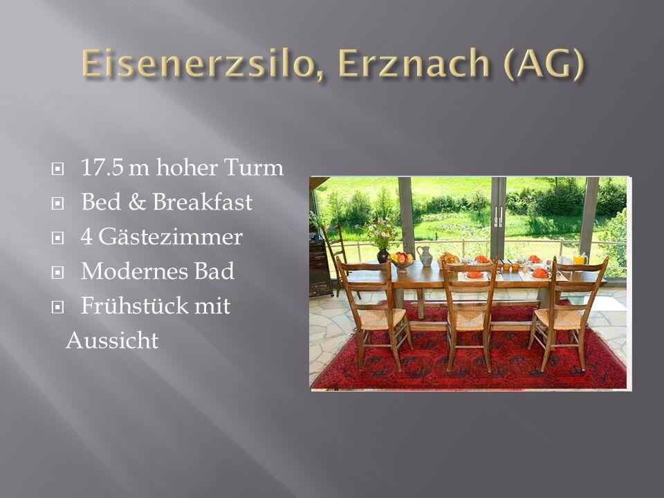 17.5 m hoher Turm Bed & Breakfast 4 Gästezimmer Modernes Bad Frühstück mit Aussicht