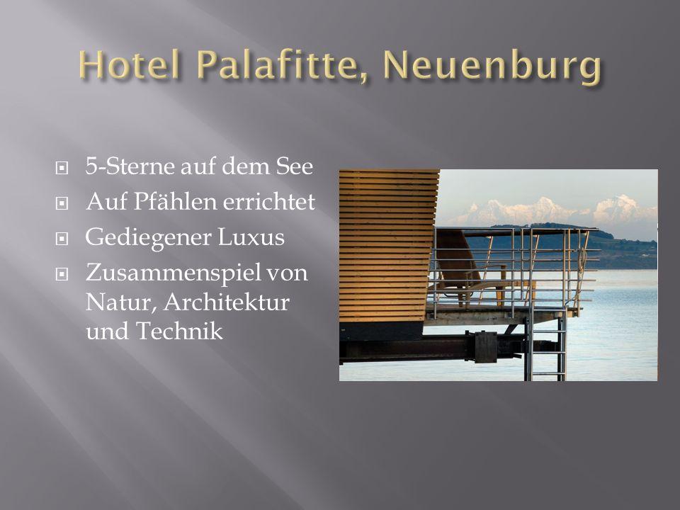 5-Sterne auf dem See Auf Pfählen errichtet Gediegener Luxus Zusammenspiel von Natur, Architektur und Technik