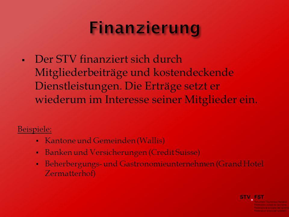 Der STV finanziert sich durch Mitgliederbeiträge und kostendeckende Dienstleistungen.