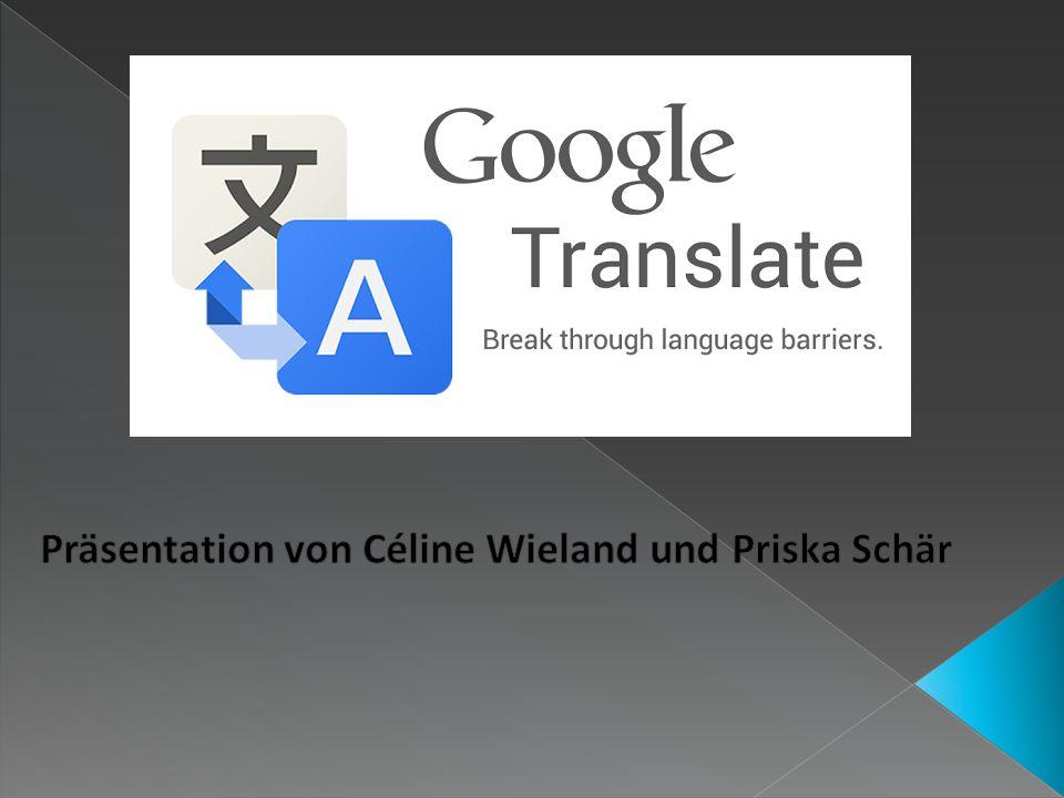 Es handelt sich um eine Übersetzungs- App Mehr als 60 Sprachen werden angeboten Häufig verwendete Übersetzungen können gespeichert werden