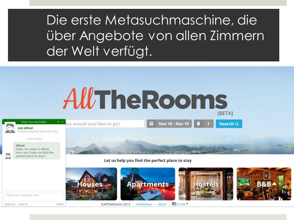 AllTheRooms Joe & Bill startup 2013 Deals mit Partner aber keine Bevorzugung Vereinigt alle Unterkunftstypen Hotelzimmer Airbnb Hotwire Ferienwohnungen
