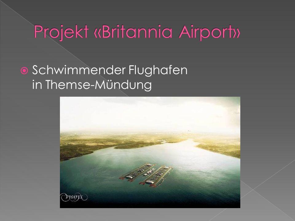 Schwimmender Flughafen in Themse-Mündung