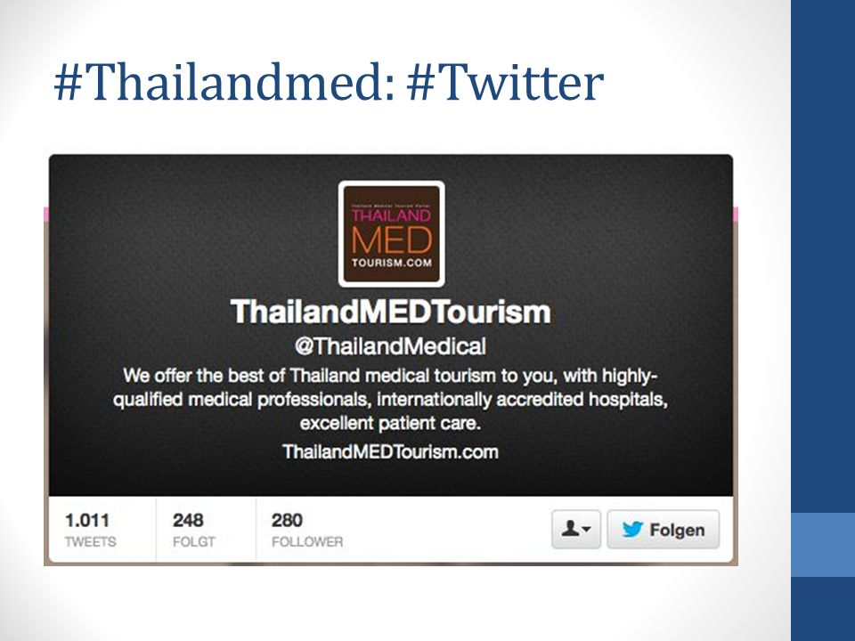 #Thailandmed: #Twitter