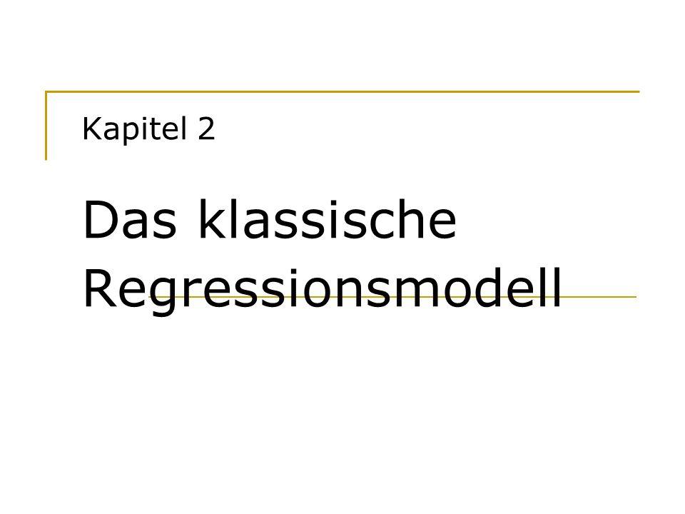 Hackl, Einführung in die Ökonometrie 2 Ein Beispiel Konsumtheorie nach Keynes C t = f(Y t ) Ökonometrisches Modell C t = b 1 + b 2 Y t + u t Aufgaben der ökonometrischen Analyse Schätzen der Parameter Testen von Hypothesen Überprüfen des Modells