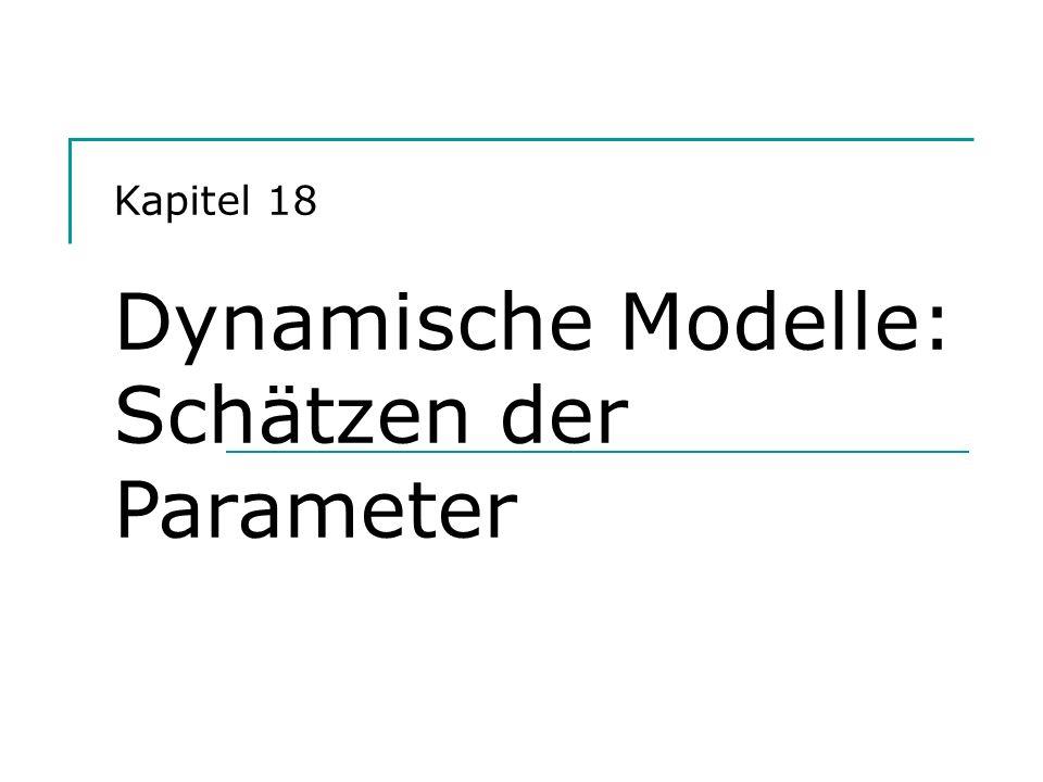 Hackl, Einführung in die Ökonometrie 12 Beispiel: DL(1)-Modell Modell: Y t = + X t + X t-1 + u t mit u t = u t-1 + t ( Weißes Rauschen) Cochrane-Orcutt-Schätzer: 1.OLS-Schätzer a, b 0, b 1 (unter Annahme, dass = 0); Berechnung der Residuen e t = Y t – (a + b 0 X t + b 1 X t-1 ) und Berechnung der Quasi-Differenzen Y* t = Y t – rY t-1, X t * = … 2.OLS-Schätzung der Koeffizienten aus Y* t = + X* t + X* t-1 + t