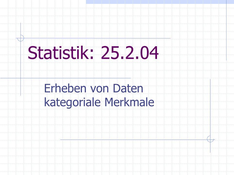 Statistik: 25.2.04 Erheben von Daten kategoriale Merkmale