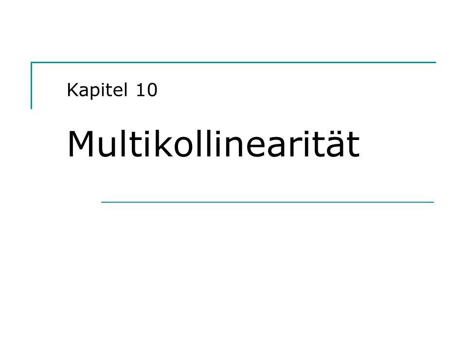 Hackl, Einführung in die Ökonometrie 2 Der Sachverhalt Modell y = X + u, Ordnung von X: n x k Annahme A2: r(X) = k In der Realität: Spalten von X können Linearkombinationen anderer Spalten sein (Rangabfall); Determinante von XX ist Null Regressoren können hoch korreliert sein; Determinante von XX hat Wert nahe bei Null Fragestellungen: Konsequenzen von Multikollinearität Möglichkeiten zum Identifizieren von Multikollinearität Möglichkeiten, die Auswirkungen von Multikollinearität zu vermindern