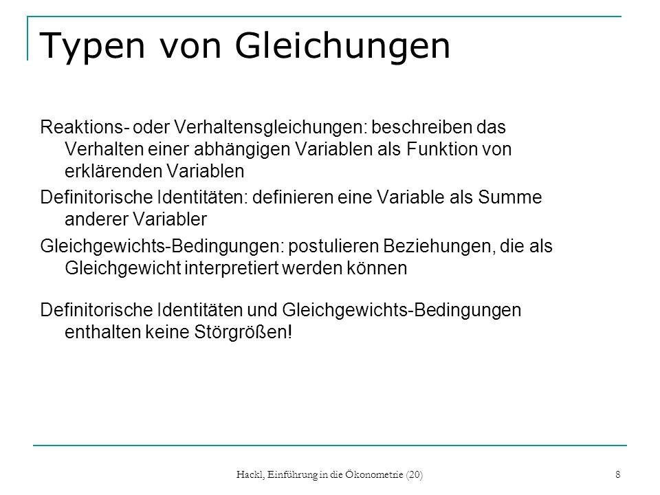 Hackl, Einführung in die Ökonometrie (20) 19 Kronecker-Produkt Definition: Ordnung: np x mq
