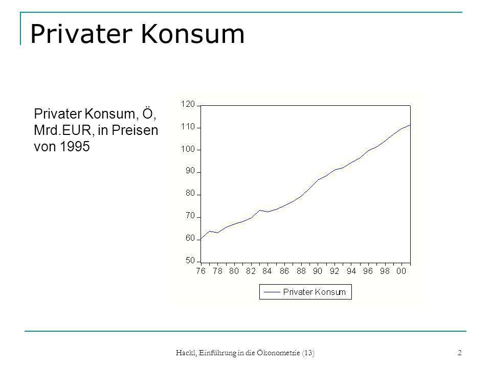 Hackl, Einführung in die Ökonometrie (13) 13 AR(p)-Prozess, Forts.