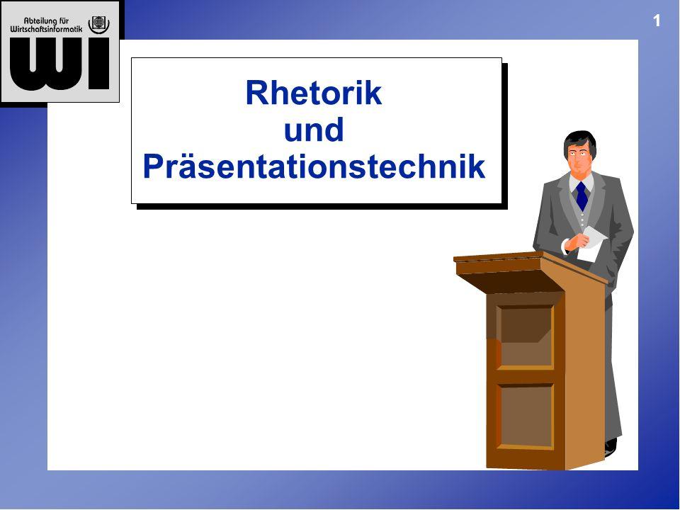 1 Rhetorik und Präsentationstechnik