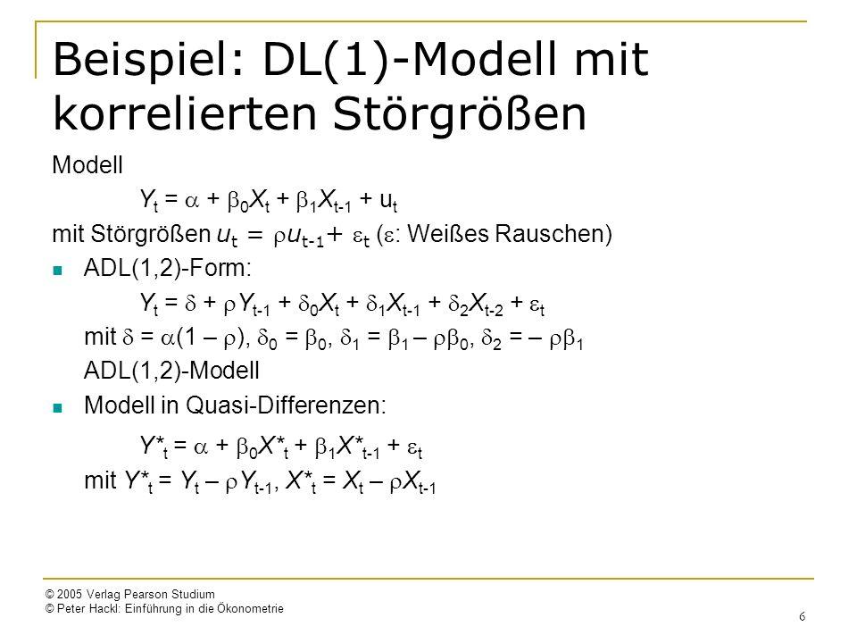 © 2005 Verlag Pearson Studium © Peter Hackl: Einführung in die Ökonometrie 17 Konsumfunktion, Forts.