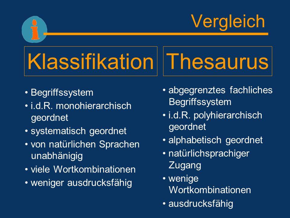 Klassifikation Von allen Ordnungsprinzipien ist die Klassifikation das einfachste.