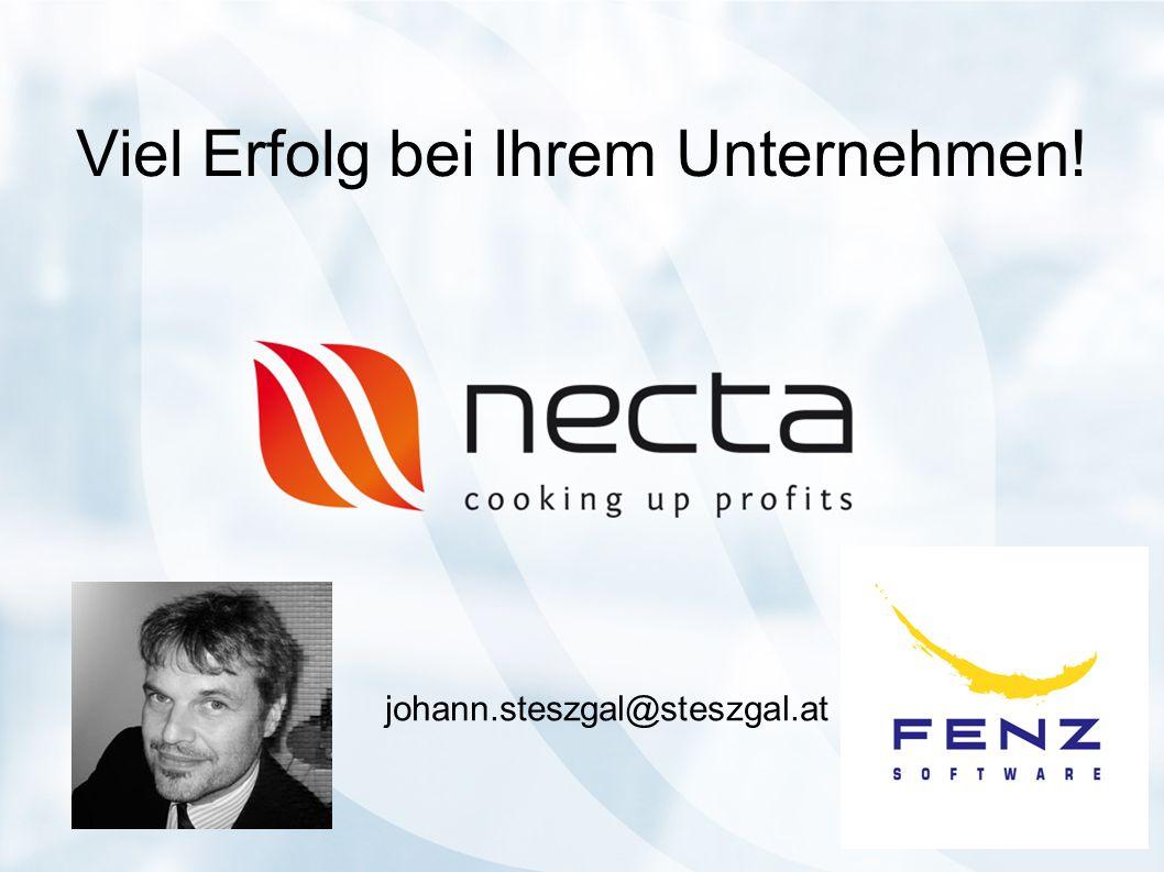 Viel Erfolg bei Ihrem Unternehmen! johann.steszgal@steszgal.at
