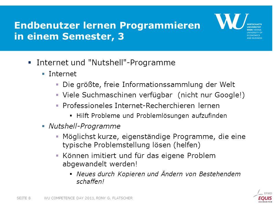 Endbenutzer lernen Programmieren in einem Semester, 3 Internet und
