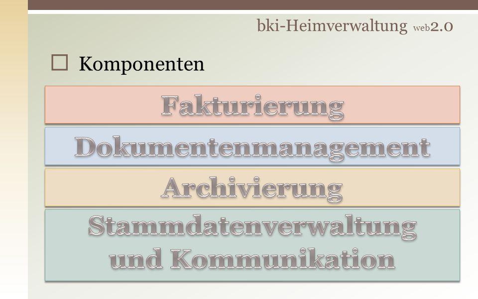 Komponenten bki-Heimverwaltung web 2.0