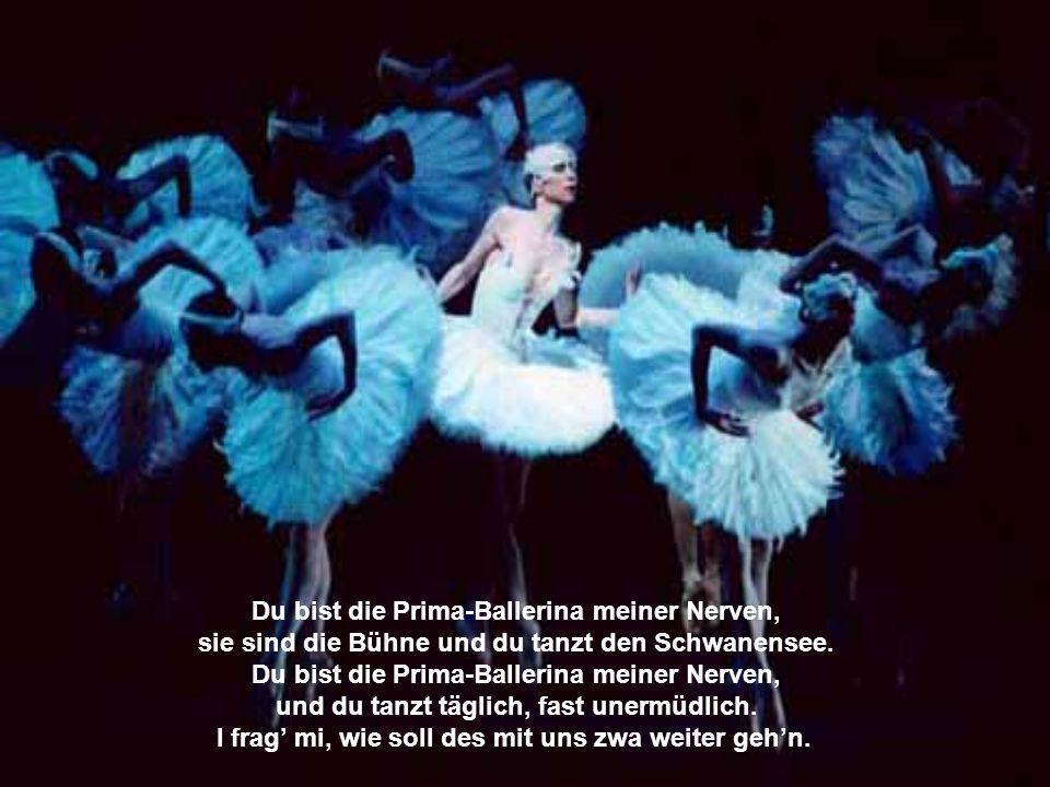 Du bist die Prima-Ballerina meiner Nerven, denn du tanzt stundenlang auf ihnen hin und her. Du bist die Prima-Ballerina meiner Nerven, und sie werdn d