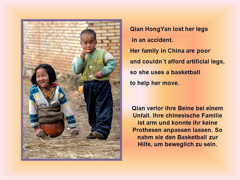 even through she has worn out six basketballs always cheerful Selbst als sie die sechs Basketbälle benützte, war sie immer fröhlich