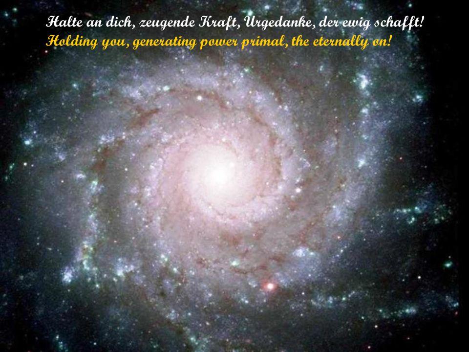 Urewige Schöpfung, halte doch ein, genug des Werdens, lass mich sein! (Eternally creation, keep one still, enough of becoming, let me be!)