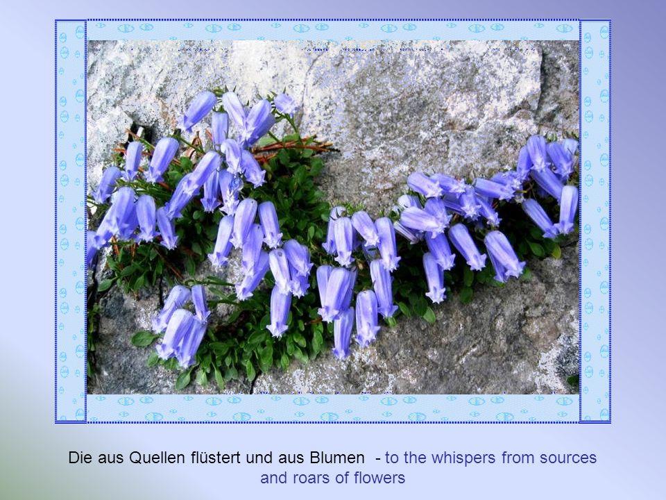 Die aus Quellen flüstert und aus Blumen - to the whispers from sources and roars of flowers