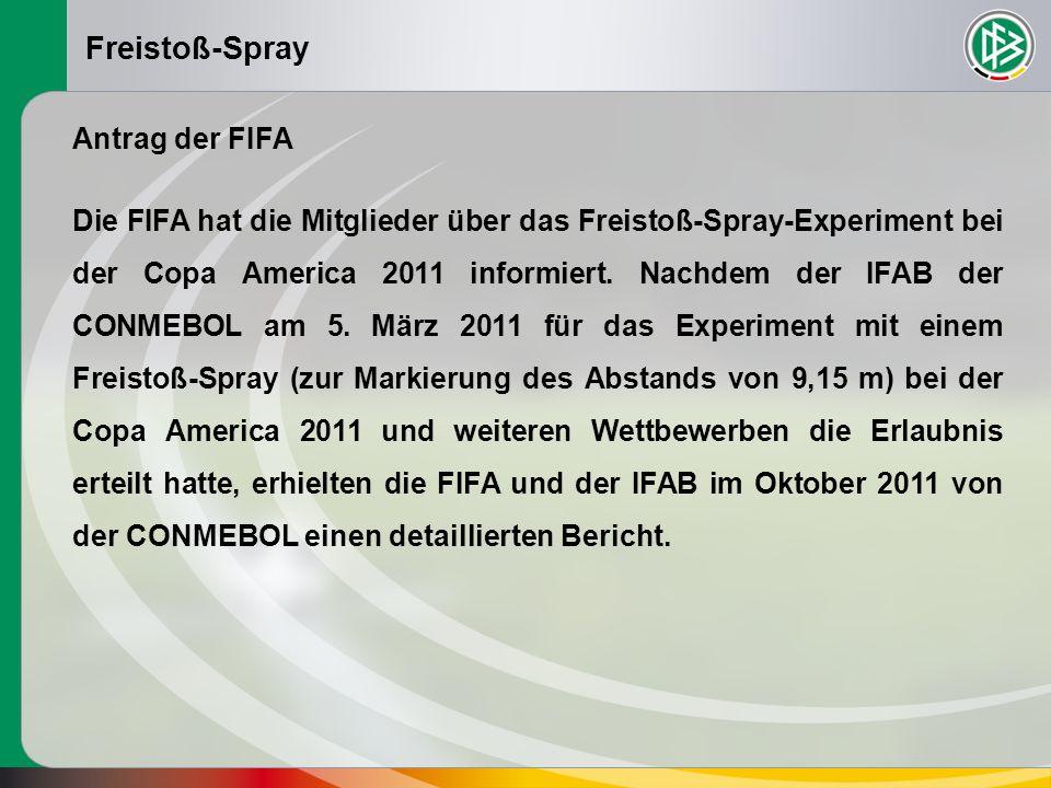 Freistoß-Spray WICHTIGSTE ERGEBNISSE 1.