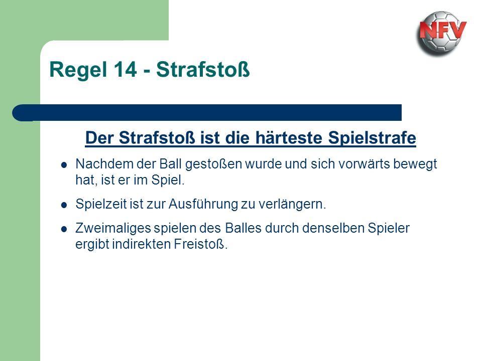 Regel 14 - Strafstoß Der Torwart verstößt gegen die Strafstoßregel Der Ball...