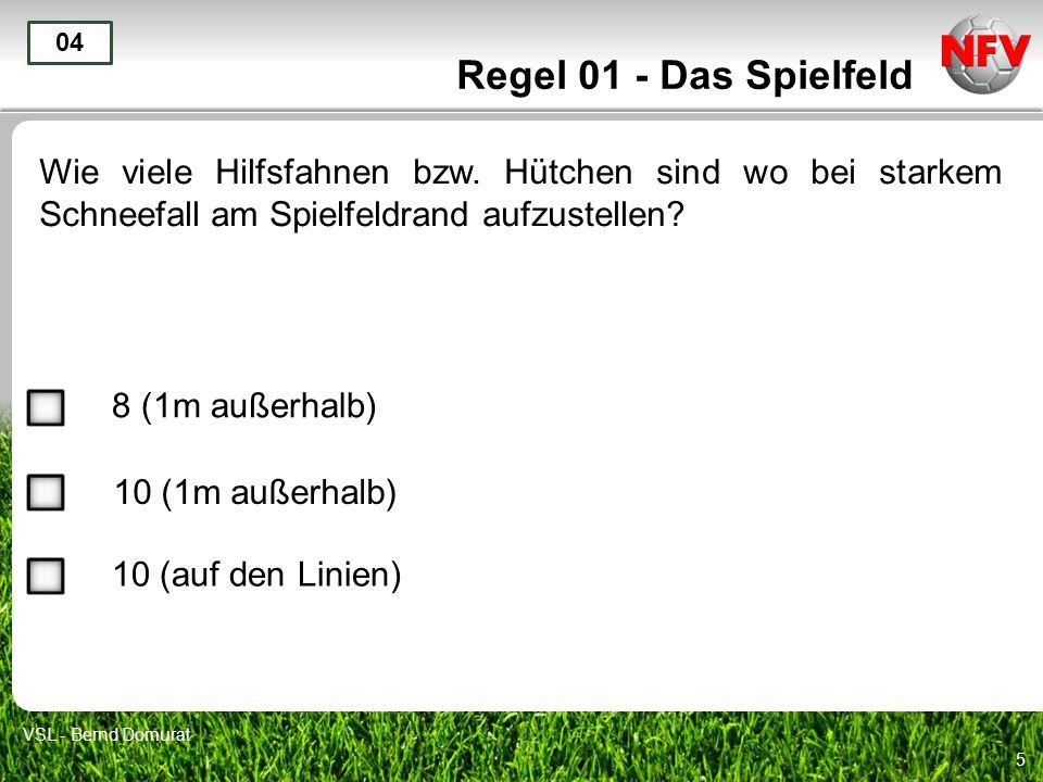 5 Regel 01 - Das Spielfeld Wie viele Hilfsfahnen bzw.