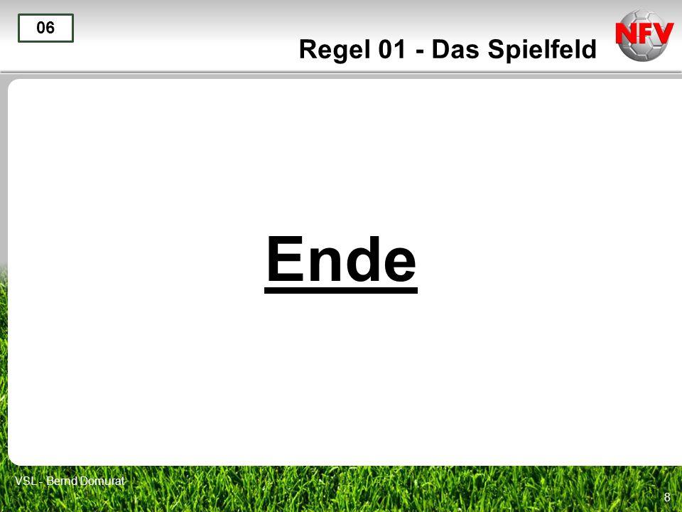 8 Regel 01 - Das Spielfeld Ende 06 VSL - Bernd Domurat