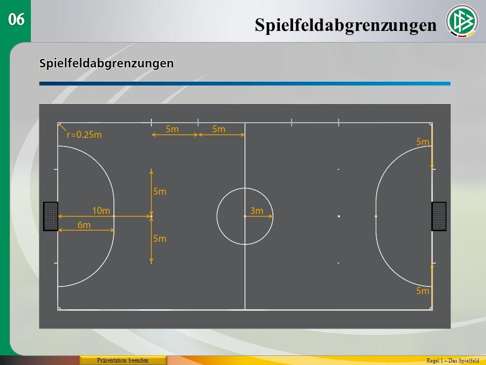 Spielfeldabgrenzungen Regel 1 – Das Spielfeld Präsentation beenden