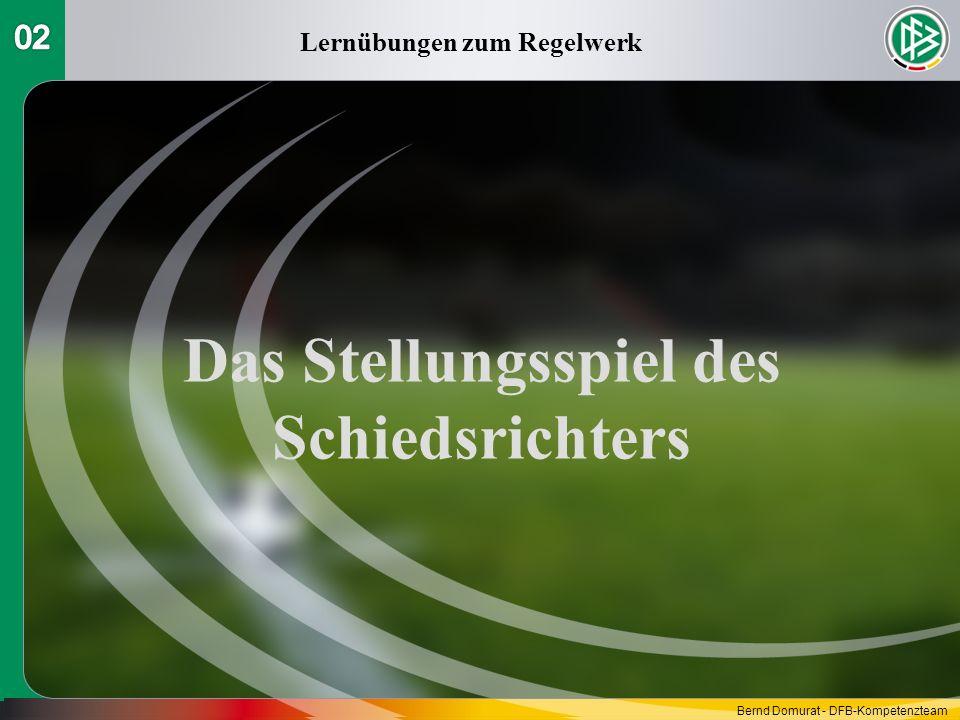 Lernübungen zum Regelwerk Das Stellungsspiel des Schiedsrichters