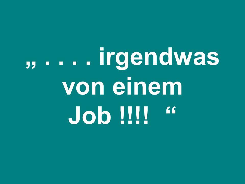 .... irgendwas von einem Job !!!!