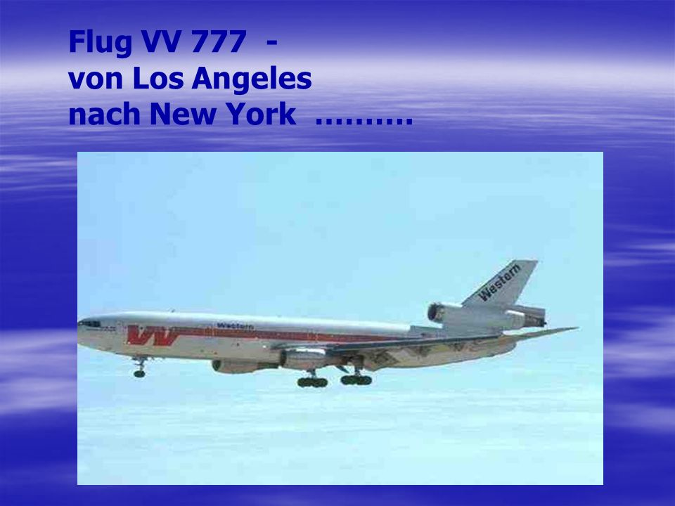 Flug VV von Los Angeles nach New York ……….