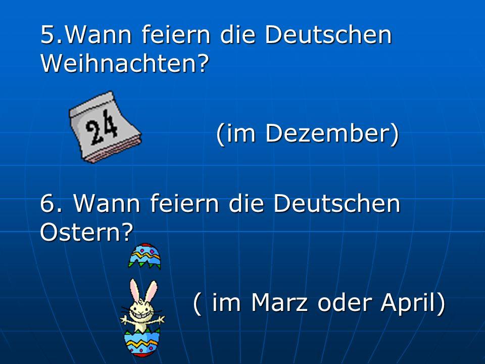 7. Was ist Wurstbrot? ( Brot mit Wurst ) 8. Was trinken die Deutschen gern am Morgen? (Kaffee)