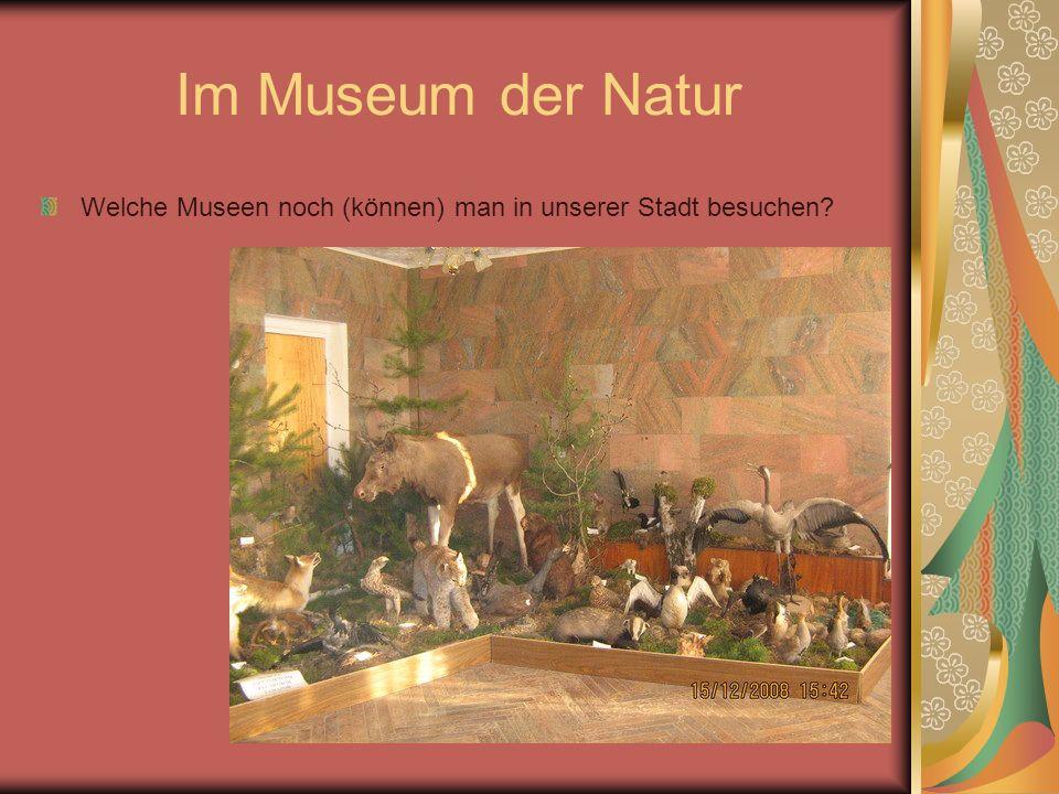 Im Museum der Natur Welche Museen noch (können) man in unserer Stadt besuchen?