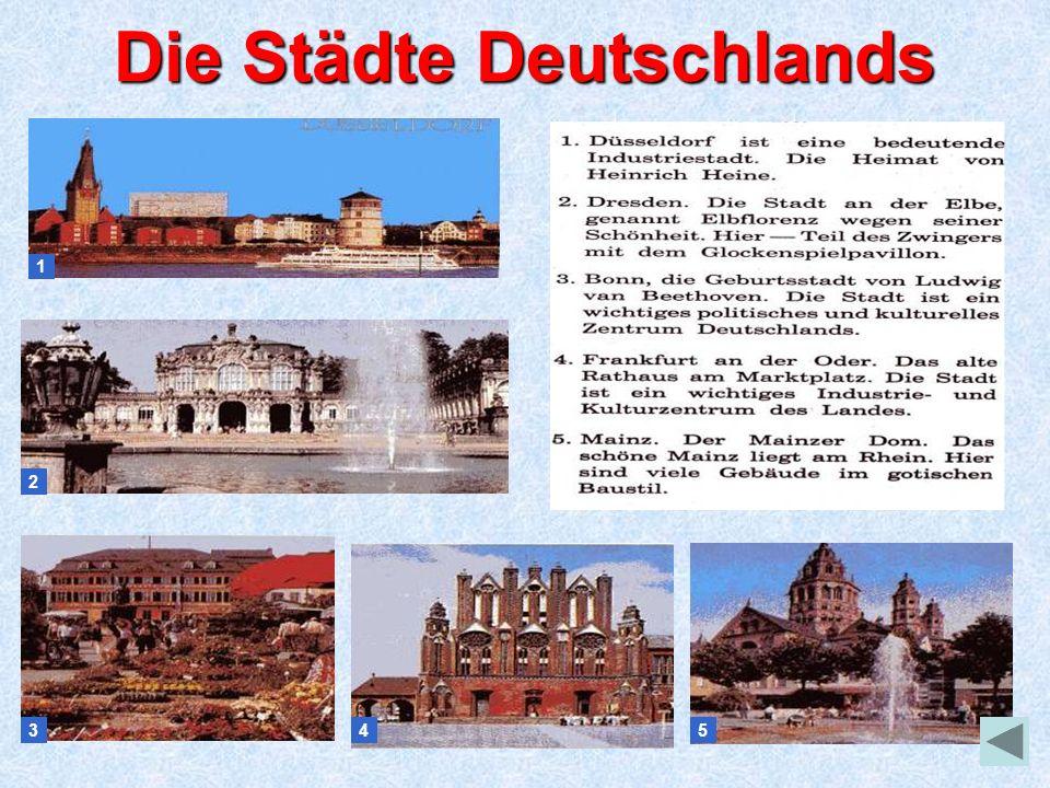 Die Städte Deutschlands 1 2 345