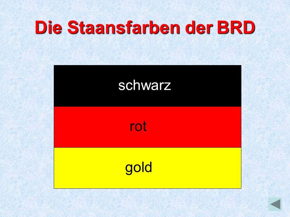 Die Staansfarben der BRD schwarz rot gold