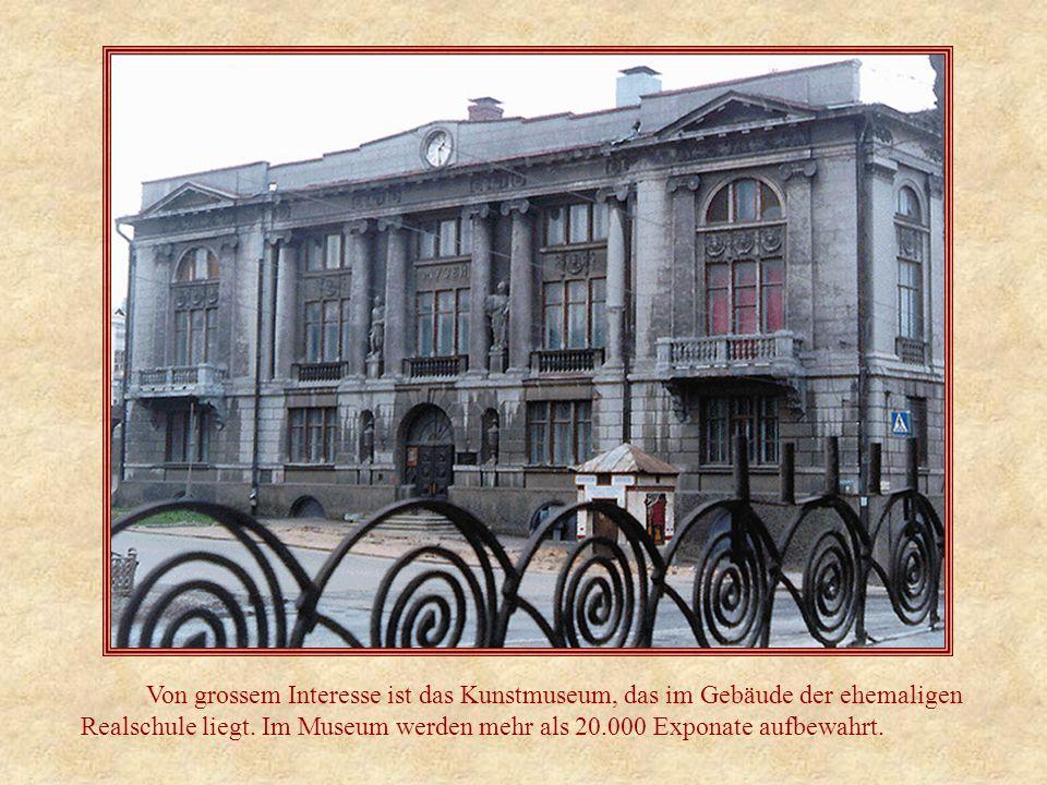 Von grossem Interesse ist das Kunstmuseum, das im Gebäude der ehemaligen Realschule liegt.