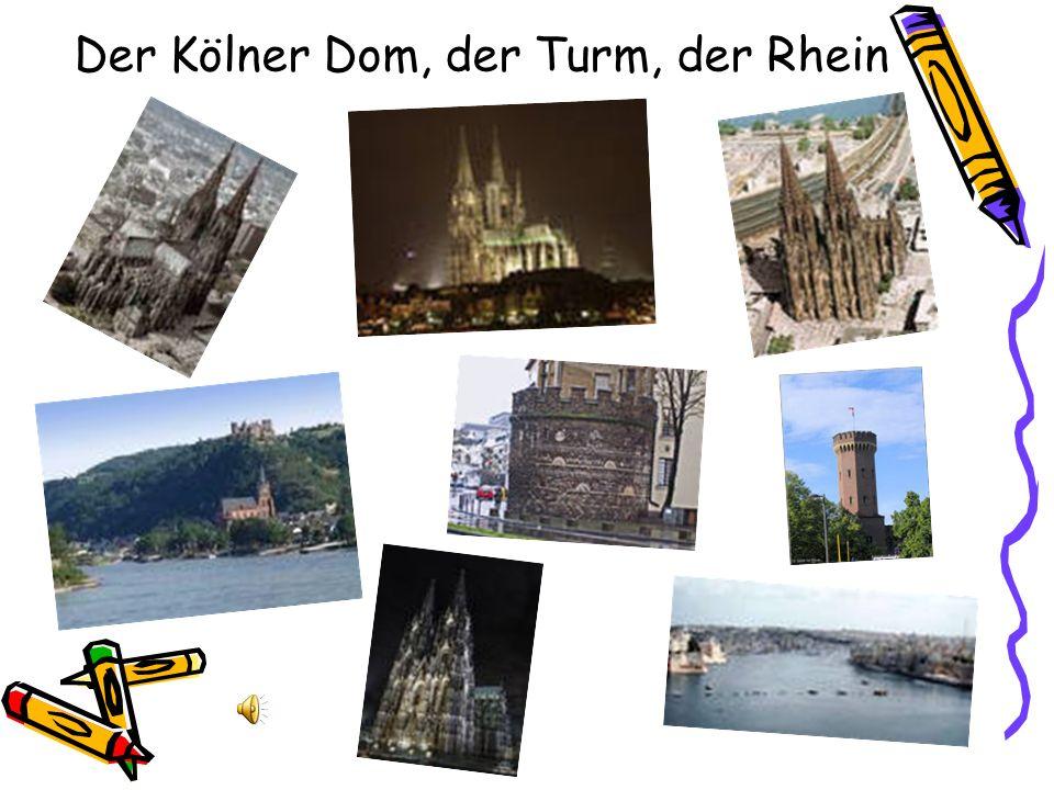 Der Kölner Dom, der Turm, der Rhein