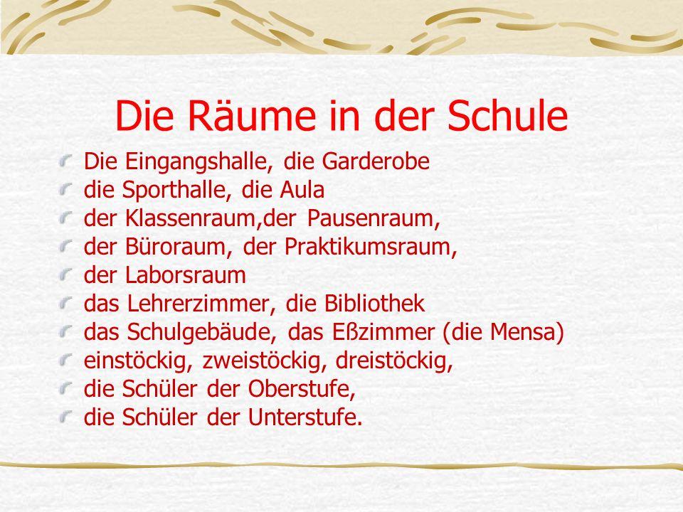 Dein Freund wünscht in Deutschland lernen.Hilf ihm die Schule wählen.