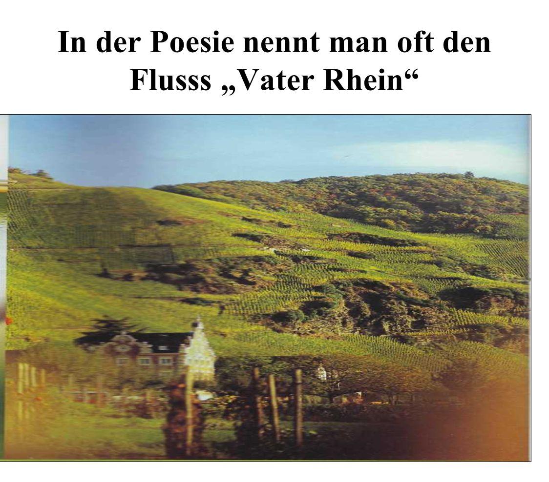 In der Poesie nennt man oft den Flusss Vater Rhein