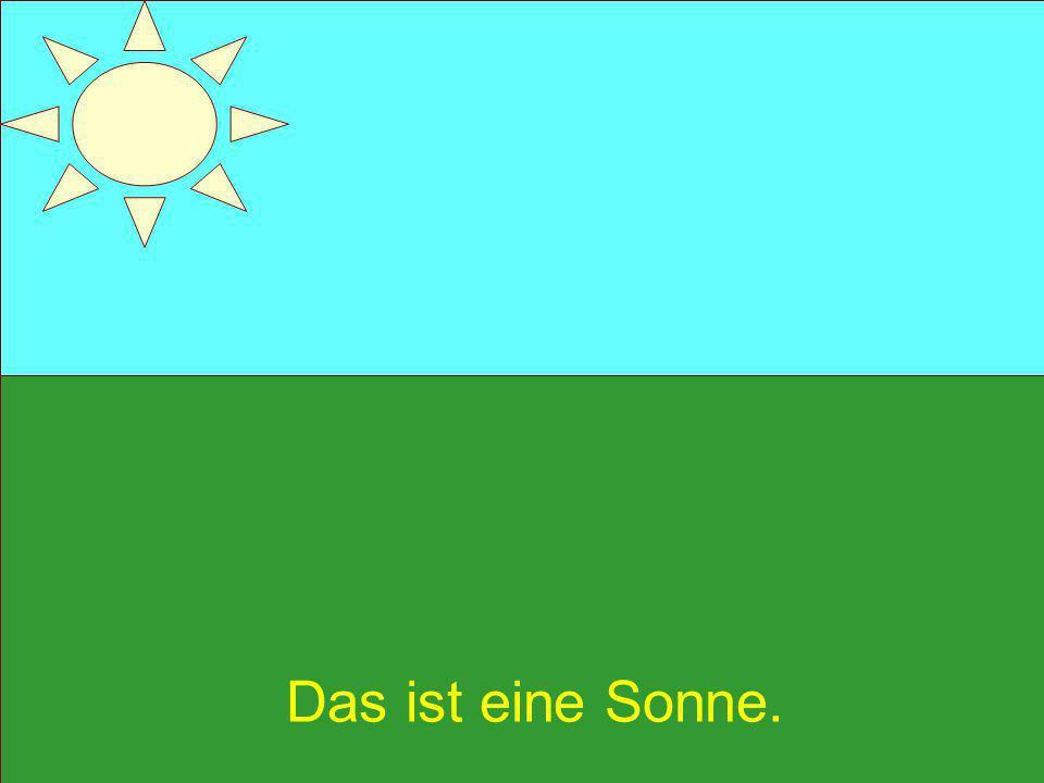 Das Wetter im September ist manchmal warm. Die Sonne scheint hell.
