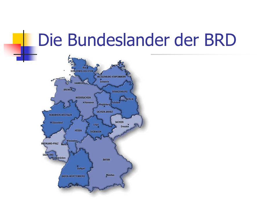 Die Bundeslander der BRD