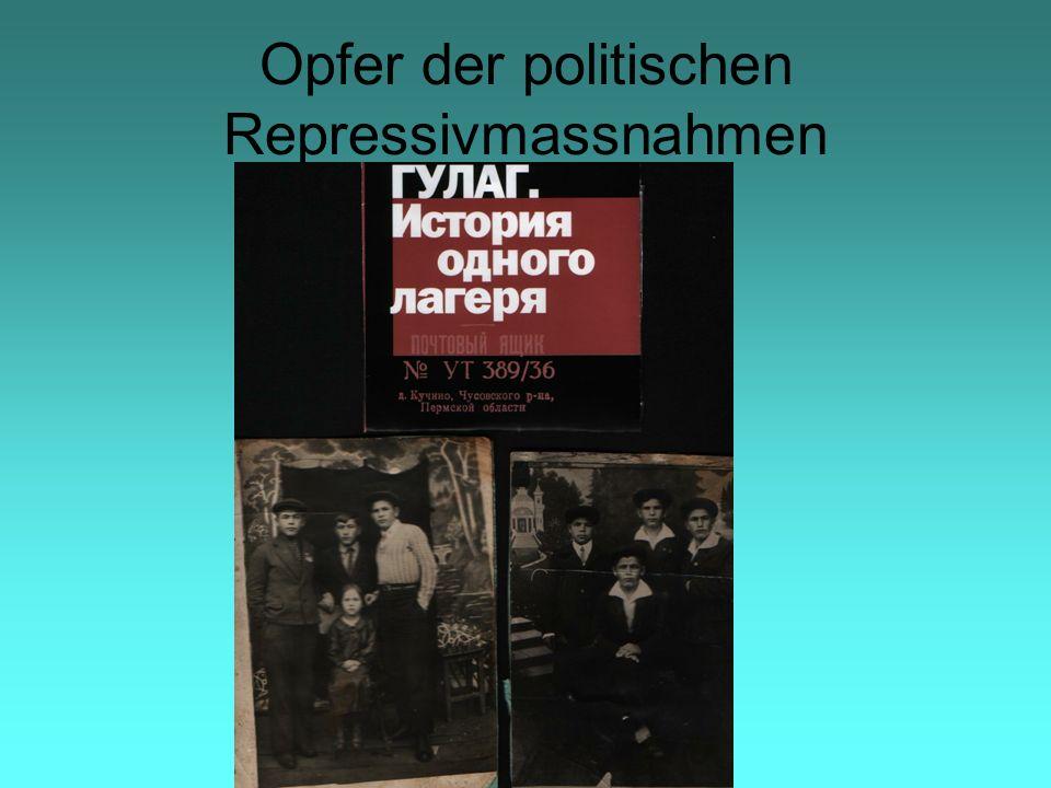 Opfer der politischen Repressivmassnahmen