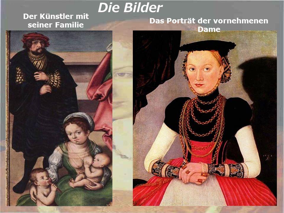 Die Bilder Der Künstler mit seiner Familie Das Porträt der vornehmenen Dame